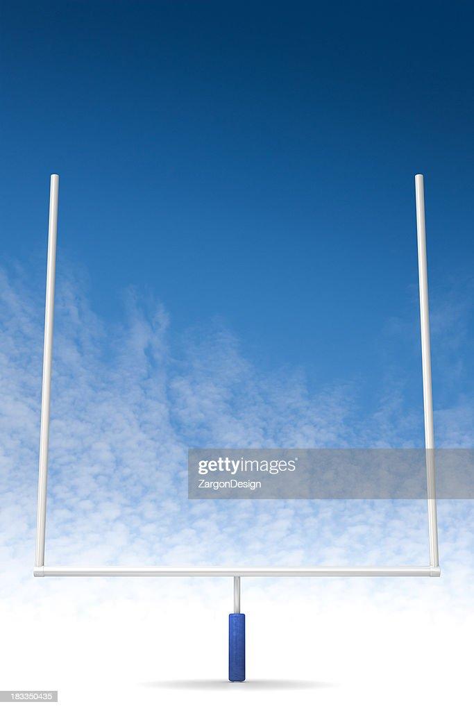 Football feild goal : Stock Photo