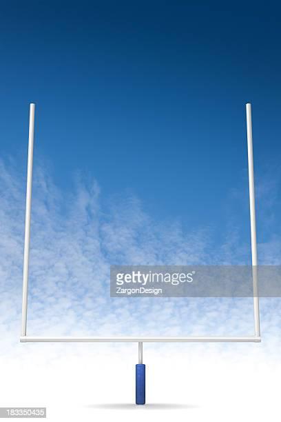 football feild goal - goal post stock photos and pictures