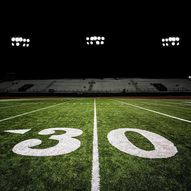 Football Field At Night Wall Art