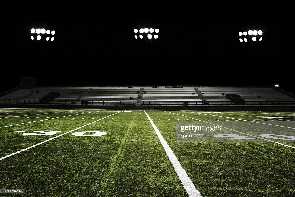 football field at night stock photo getty images