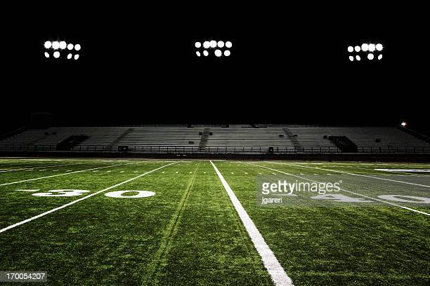 football field at night - football field stock pictures, royalty-free photos & images