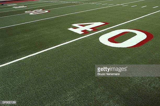 football field detail - forty yard line stock pictures, royalty-free photos & images