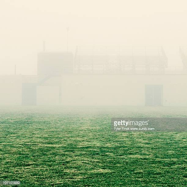 football field, fog - sursly stock pictures, royalty-free photos & images