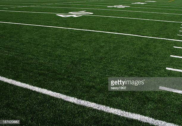 football field forty yardline artificial turf - football field stock pictures, royalty-free photos & images