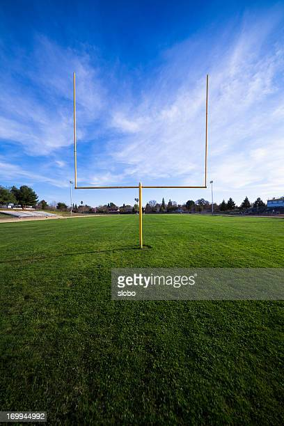 football field - end zone stock pictures, royalty-free photos & images