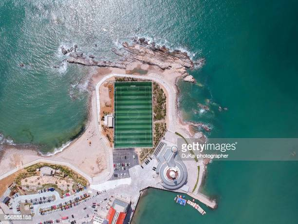 football field - helicopter photos stock pictures, royalty-free photos & images