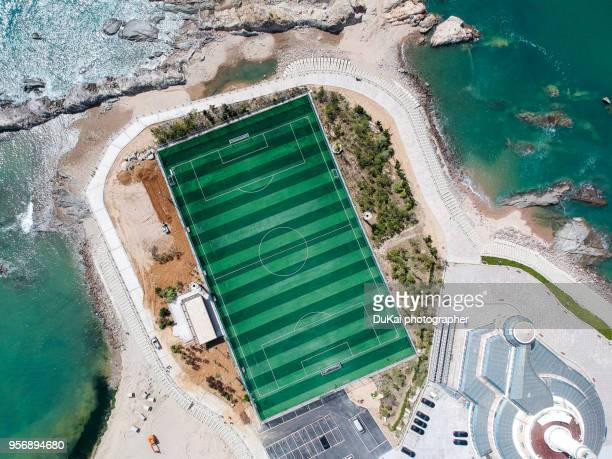 football field - bouches du rhone stock pictures, royalty-free photos & images