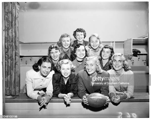 Football fiesta in Berkeley 17 September 1951 Barbara Dee WartellCarolyn JohnsonPatricia MooreJudy Hoffmanroseanne DicksonBarbara BourneDonna...