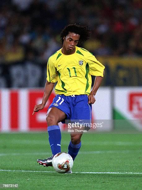 Football FIFA 2002 World Cup Final Yokohama Japan 30th June 2002 Brazil 2 v Germany 0 Brazil's RonaldinhoCredit POPPERFOTO/JOHN McDERMOTT
