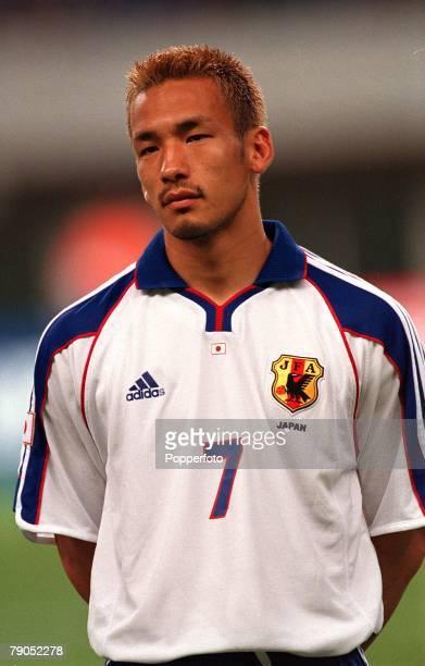 Football FIFA Confederations Cup 2nd June 2001 Niigata Japan Cameroon 0 v Japan 2 Japan's Hidetoshi Nakata