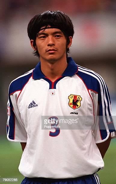 Football FIFA Confederations Cup 2nd June 2001 Niigata Japan Cameroon 0 v Japan 2 Japan's Naoki Matsuda