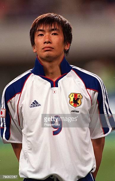 Football FIFA Confederations Cup 2nd June 2001 Niigata Japan Cameroon 0 v Japan 2 Japan's Akinori Nishizawa