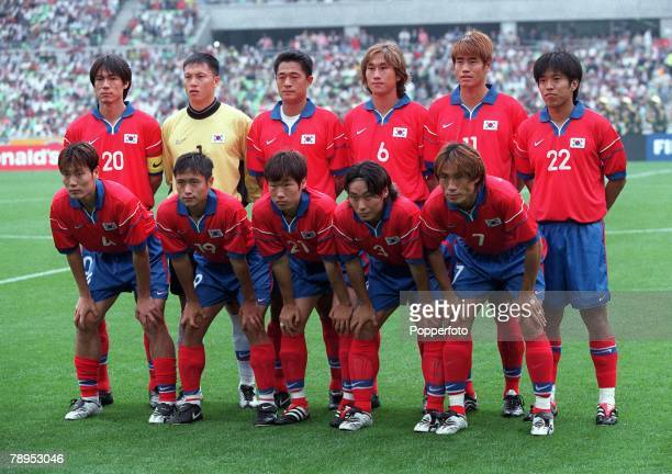 Football FIFA Confederations Cup 30th May 2001 Daegu Korea Korea Republic 0 v France 5 The Korea Republic team pose together for a group photograph...
