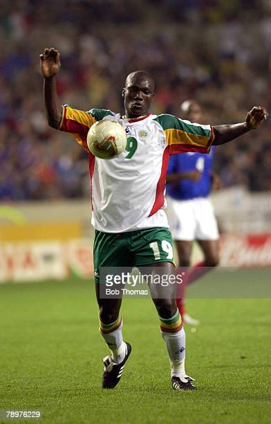 Football FIFA World Cup Finals Korea Seoul 31st May 2002 France 0 v Senegal 1 Papa Bouda Diop Senegal