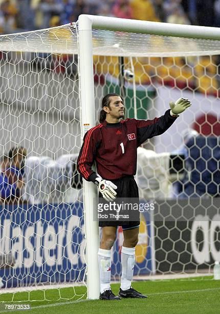 Football FIFA World Cup Finals Miyagi Japan 18th June 2002 Japan 0 v Turkey 1 Rustu Recber Turkey