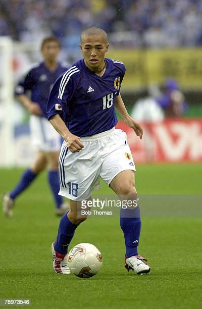 Football FIFA World Cup Finals Miyagi Japan 18th June 2002 Japan 0 v Turkey 1 Shinji Ono Japan
