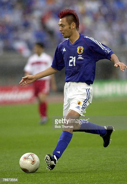 Football FIFA World Cup Finals Miyagi Japan 18th June 2002 Japan 0 v Turkey 1 Kazuyuki Toda Japan