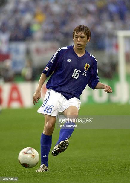 Football FIFA World Cup Finals Miyagi Japan 18th June 2002 Japan 0 v Turkey 1 Koji Nakata Japan