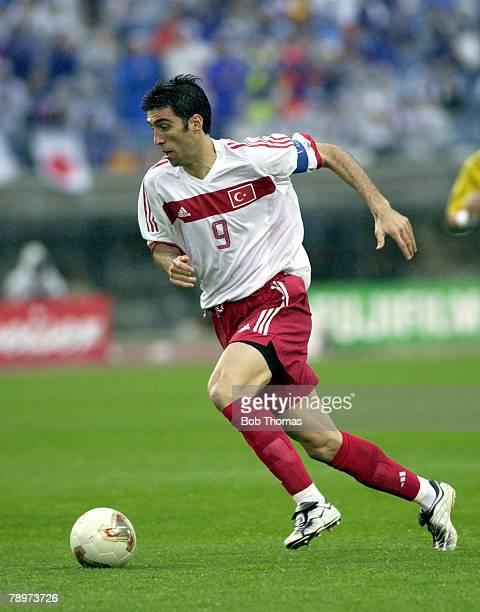 Football FIFA World Cup Finals Miyagi Japan 18th June 2002 Japan 0 v Turkey 1 Turkey's Hakan Sukur