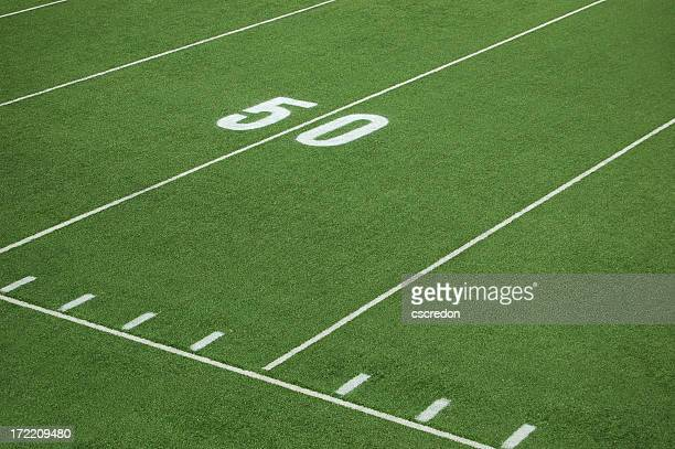 football fifty yard line - number 50 stock photos and pictures