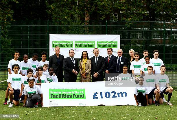 Football Foundation Ambassador John Scales General Secretary of The FA Alex Horne Minister of Sport and Equalities Helen Grant MP Premier League...