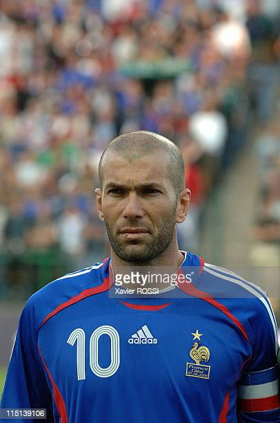 Football France China 31 in France on June 07 2006 Zinedine Zidane captain of France team