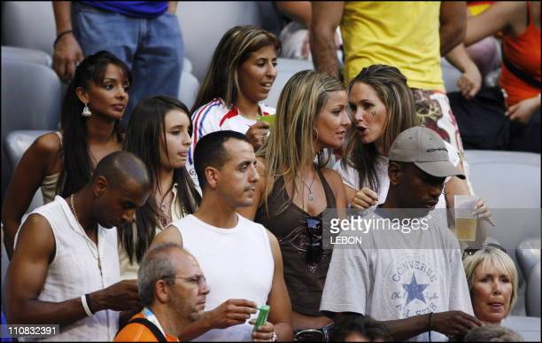 Football France Qualified For Fifa World Cup Final After Defeating Portugal 1 0 In Munich Germany On July 05 2006 Mrs Abidal Wahiba Ribery Beatrice...