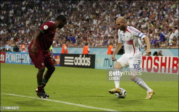 Football France Qualified For Fifa World Cup Final After Defeating Portugal 1 0 In Munich Germany On July 05 2006 Zinedine Zidane