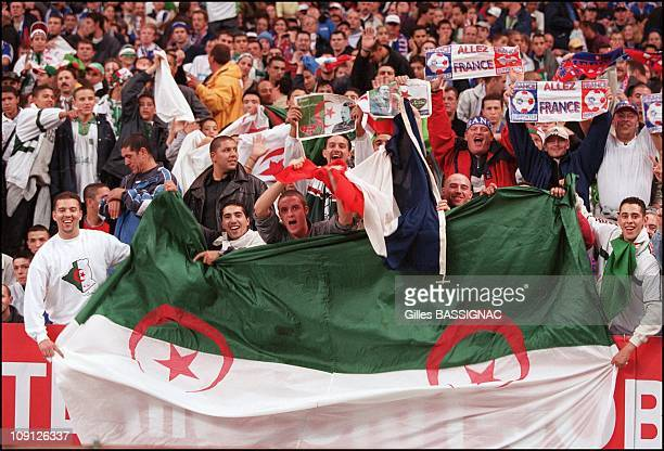 Football FranceAlgeria First Game In 40 Years Interrumpted By The Crowd After 75 Mns On June 10Th 2001 In Paris France