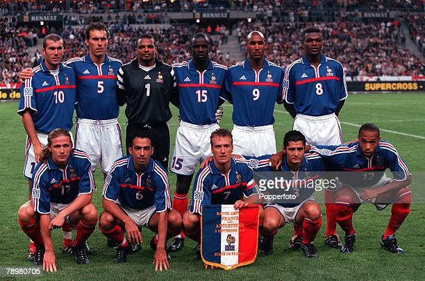 Football Friendly International Stade de France Paris France 2nd September 2000 France 1 v England 1 The World and European Champion French team...