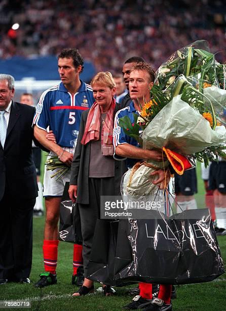 Football Friendly International Stade de France Paris France 2nd September 2000 France 1 v England 1 French Internationals Laurent Blanc and Didier...
