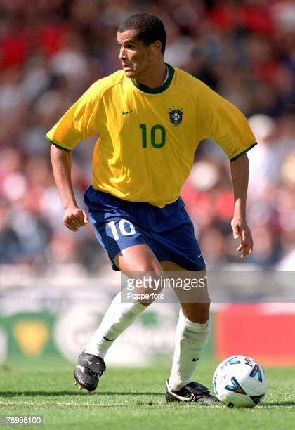 Football Friendly International Wembley 27th May England 1 v Brazil 1 Brazil's Rivaldo on the ball
