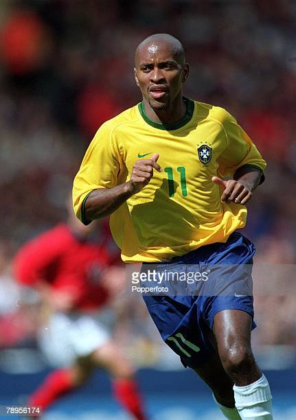 Football Friendly International Wembley 27th May England 1 v Brazil 1 Brazil's Ze Roberto