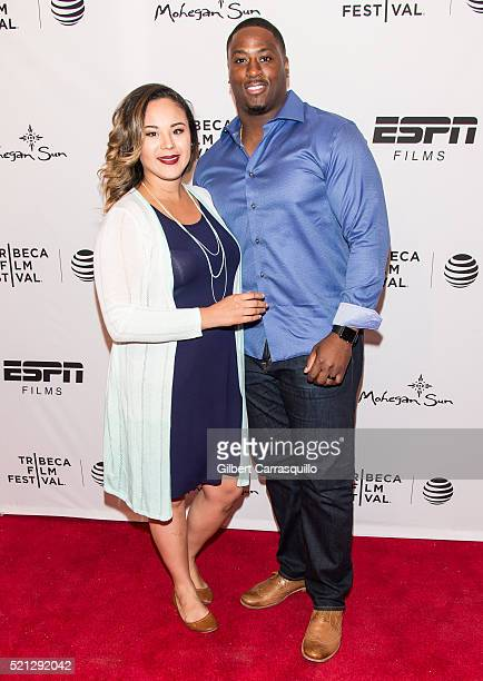Football fullback for the New York Giants of the National Football League Will Johnson and guest attend the ESPN Gala '30 For 30 This Magic Moment'...