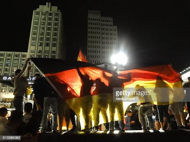 Football game celebration in Berlin