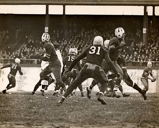 Football game in progress