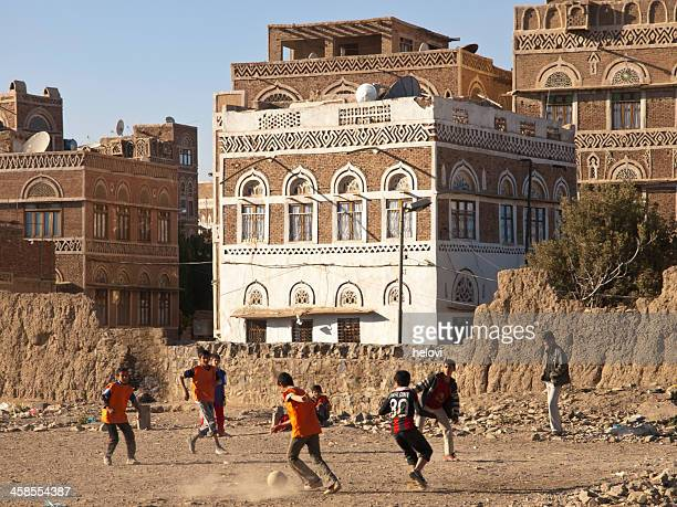 football game in sanaa - sanaa stock pictures, royalty-free photos & images