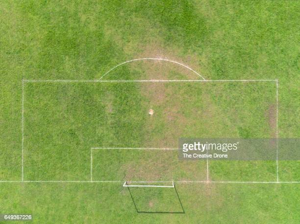 football goal area - football pitch stock pictures, royalty-free photos & images