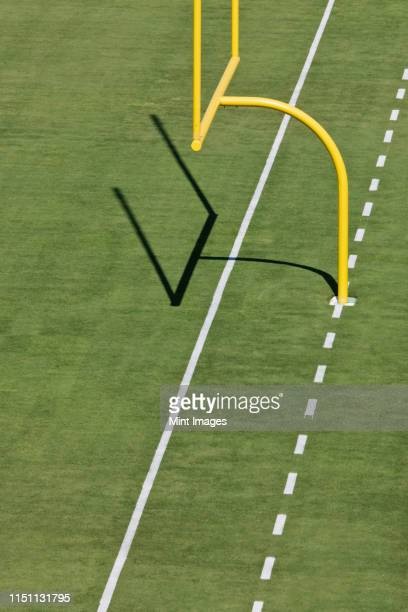 football goal post - end zone stock pictures, royalty-free photos & images
