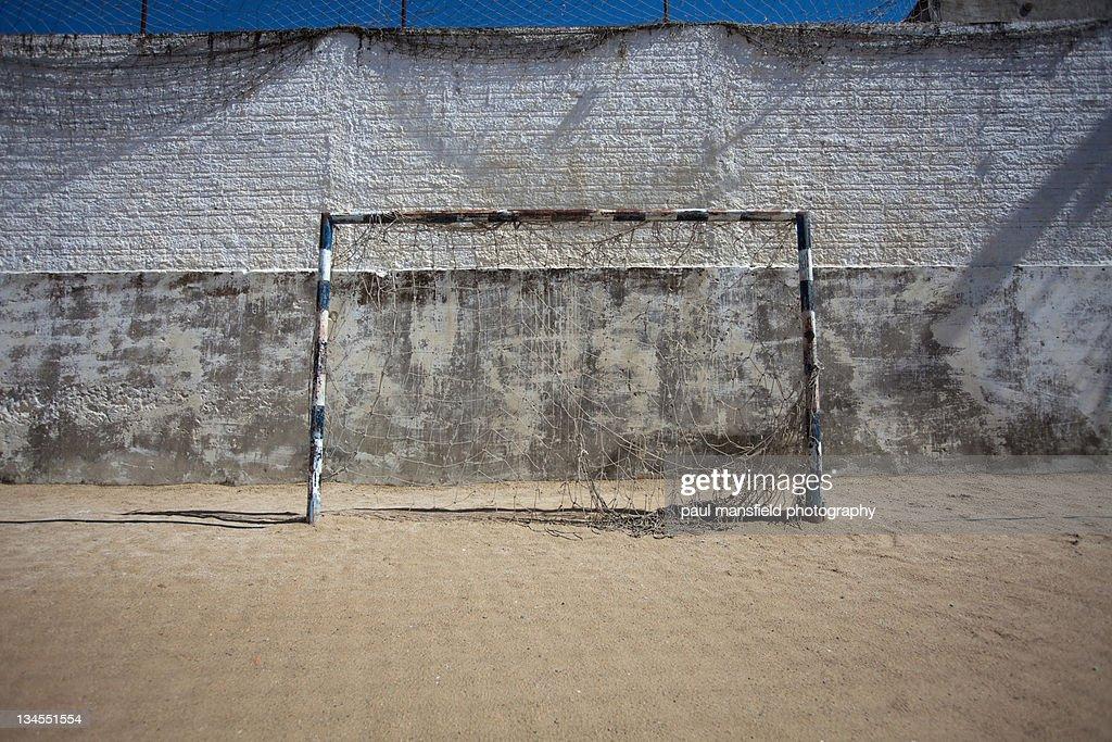 Football goal posts : Stock Photo