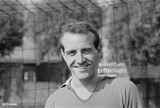 Football goalkeeper for Sheffield Wednesday FC and the England team Ron Springett , UK, 24th September 1965.