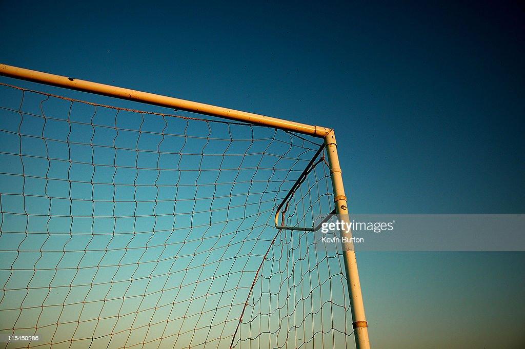 Football Goalpost and Net : ストックフォト