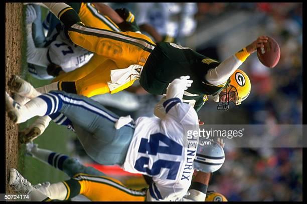 Green Bay Packers QB Blair Kiel in action vs Dallas Cowboys.
