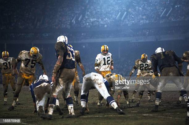 Green Bay Packers QB Zeke Bratkowski at line of scrimmage during game vs Baltimore Colts at Memorial Stadium Baltimore MD CREDIT Neil Leifer