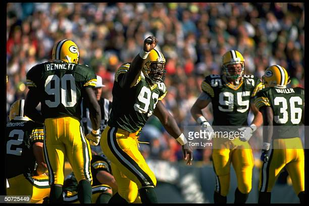 Green Bay Packers Robert Brown during game