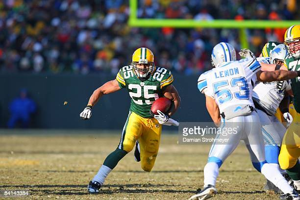 Green Bay Packers running back Ryan Grant in action vs Detroit Lions Green Bay WI CREDIT Damian Strohmeyer