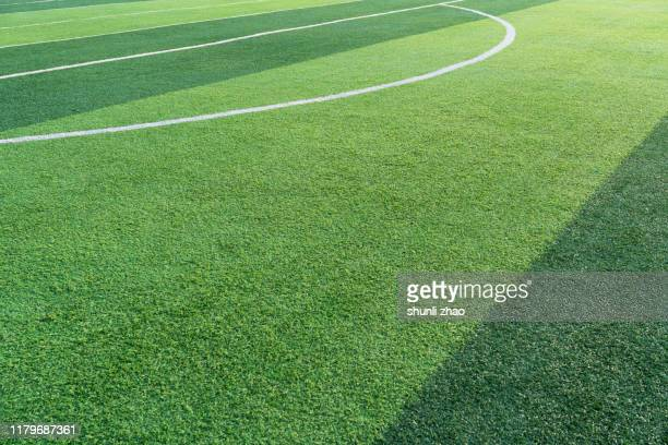 football green grass field - rugby pitch stock pictures, royalty-free photos & images