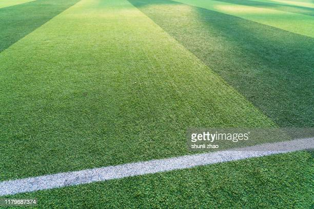 football green grass field - man made space stock pictures, royalty-free photos & images