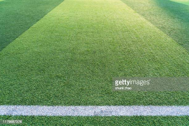 football green grass field - turf stock pictures, royalty-free photos & images