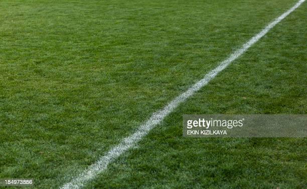 Verde grama Campo de Futebol